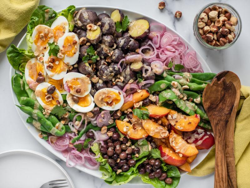 Hazelnut Nicoise Salad up close
